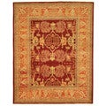 Safavieh Hand-knotted Peshawar Vegetable Dye Burgundy/ Bronze Wool Rug (9' x 12')