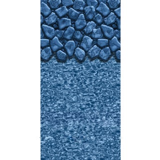 Boulder Swirl Round Beaded 52-inch Deep Pool Liner