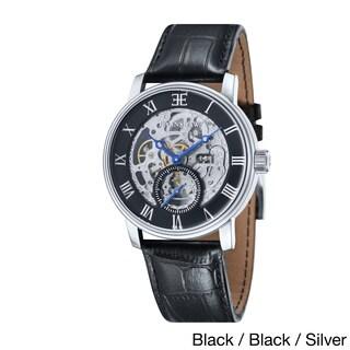 Earnshaw Men's Westminster Skeleton Leather Watch