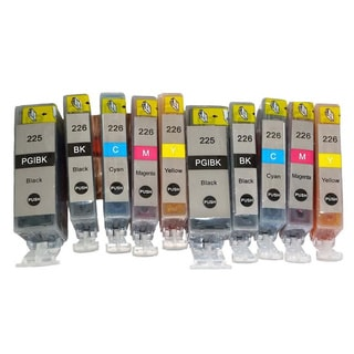 Compatible Ink Cartridge Replacement for Canon PGI-225 CLI-226 (Pack of 10)