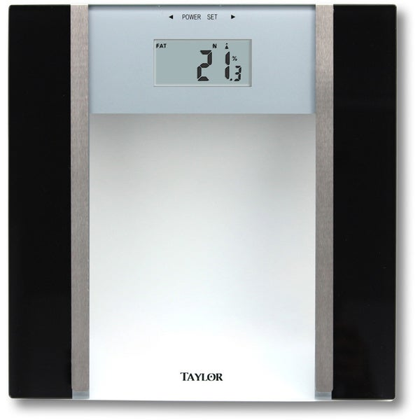 Taylor Tempered Glass Body Composition Scale
