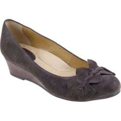 Women's Earth Teaberry Dark Taupe Kid Suede