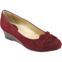 Women's Earth Teaberry Deep Red Kid Suede