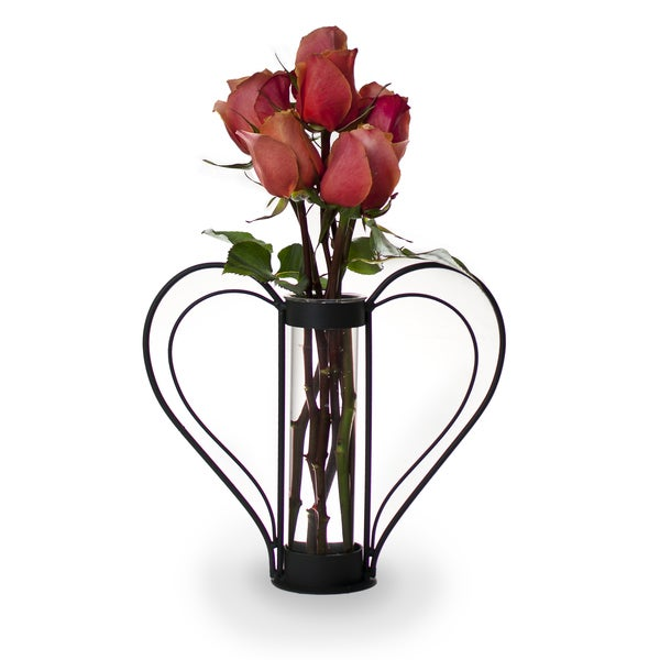 Iron Heart-shaped Sweetheart Flower Vase