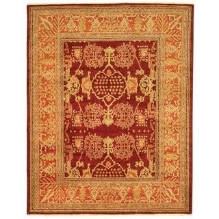 Safavieh Hand-knotted Peshawar Vegetable Dye Burgundy/ Bronze Wool Rug (8' x 10')