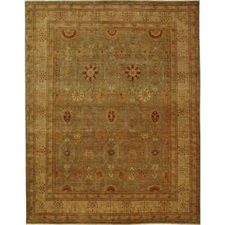 Safavieh Hand-knotted Lavar Light Blue/ Ivory Wool Rug (6' x 9')