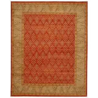 Safavieh Hand-knotted Marrakech Rose/ Ivory Wool Rug (6' x 9')
