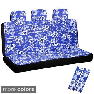 Hawaiian Flower 60/40 Split Bench 8-piece Seat Cover Set