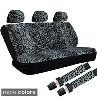 Oxgord Cheetah/ Leopard 60/40 Split Bench 8-piece Seat Cover Set