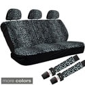 Oxgord Cheetah/ Leopard 60/40 Split Bench 8-piece Seat Cover Set