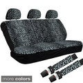 Cheetah/ Leopard 60/40 Split Bench 8-piece Seat Cover Set
