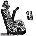 Zebra/ Tiger Striped 60/40 Split Bench 8-piece Seat Cover Set