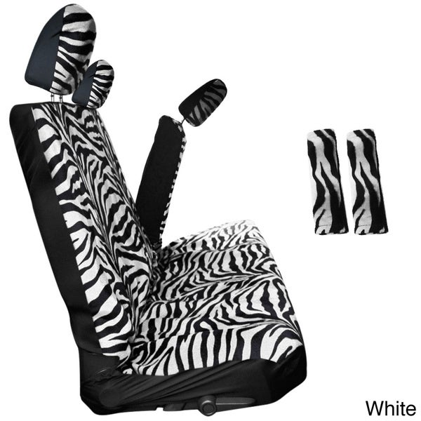 Oxgord Zebra/ Tiger Striped 60/40 Split Bench 8-piece Seat Cover Set 12562258