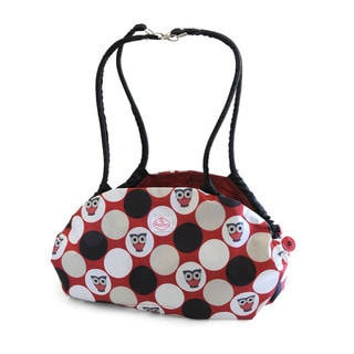 2 Red Hens Toy Nanny Play Mat and Tote in Owl Dots
