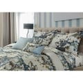 Tribeca Living Casablanca 5-piece Egyptian Cotton Floral Oversized Duvet Cover Set