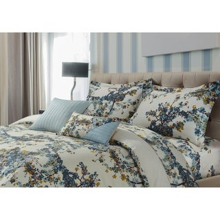 Tribeca Living Casablanca 5-piece Cotton Sateen Floral Oversized Duvet Cover Set
