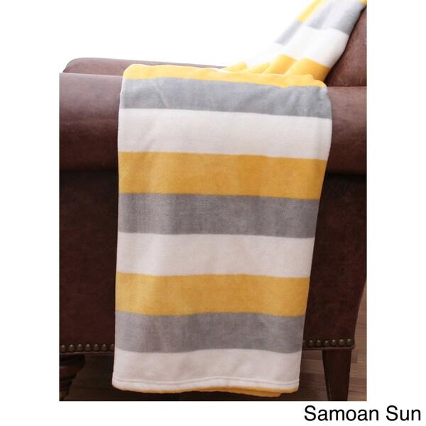 Color Block 50x60 Decorative Throw Blanket
