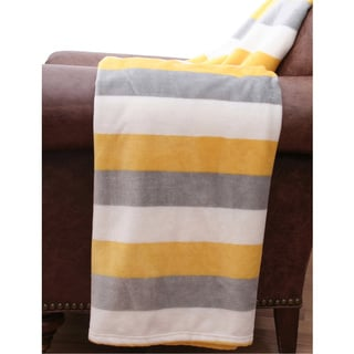Color Block 50x60 Decorative Throw Blanket
