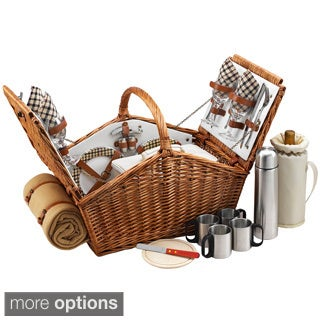 Huntsman 4-person with Coffee Set and Blanket Picnic Basket
