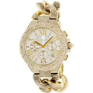 Michael Kors Women's MK3248 'Camille' Crystal Gold Glitz Watch