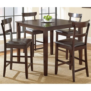 Hayden 5-piece Brown Counter Height Dining Set