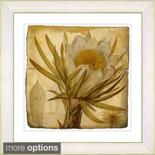 Zhee Singer 'Vintage Botanical No. 007 - Antiqued' Framed Fine Art Print