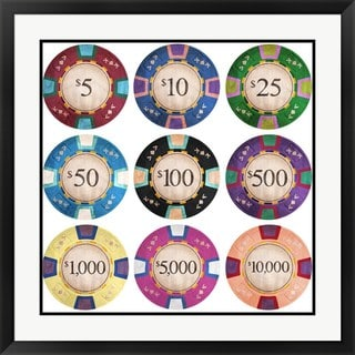 GI ArtLab 'Poker Chips' Framed Art Print