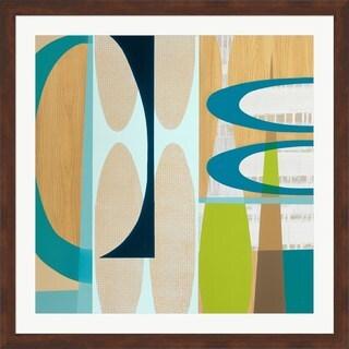 Mary Calkins 'Ocean and Sand 2' Framed Art Print