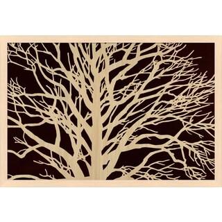 Mary Calkins 'Tree in Sepia' Framed Art