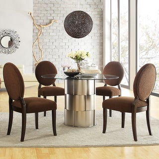 Kona 5-piece Chrome Finish Barrel Dining Set