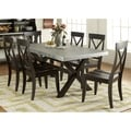 Liberty Keaton II Charcoal 7-piece Dinette Set