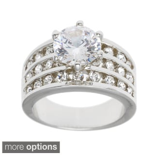 "Simon Frank Belle Lumiere ""Beautiful Light"" Cubic Zirconia Engagement Ring"