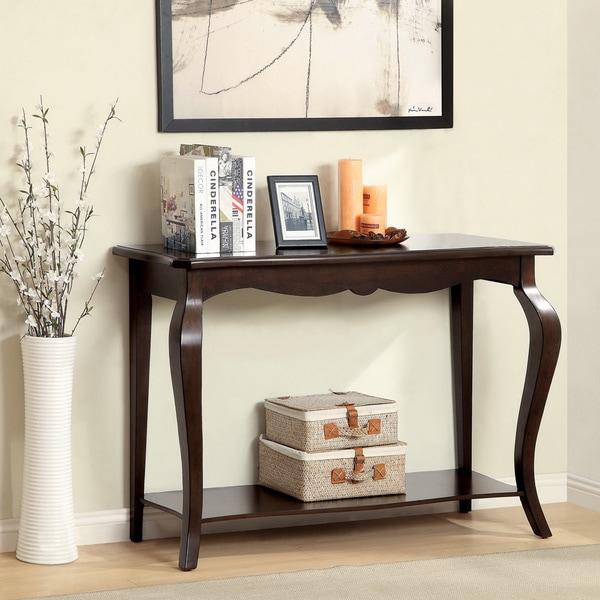 Furniture of America Prozilla Traditional Tobacco Oak Accent Console Table