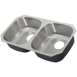 Ticor 32-inch Stainless Steel 16-gauge Undermount Double Bowl Kitchen Sink