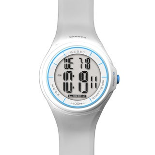 Dakota 'Touch Screen EL' White Digital Watch