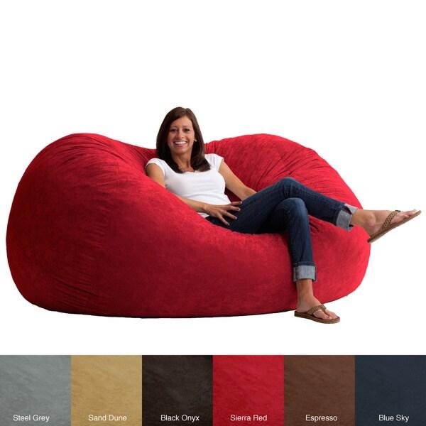 FufSack Memory Foam Microfiber 6-foot XL Bean Bag Chair ...
