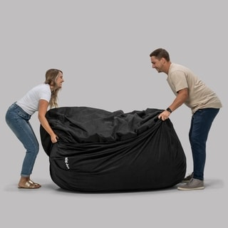 FufSack Memory Foam Microfiber 6-foot XL Bean Bag Chair