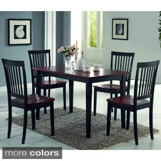 Oakdale 5-piece Cappuccino/ Cherry Dining Set