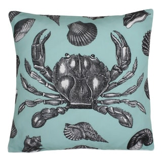 Kiera Vintage Crab 20x20 Feather Fill Decorative Pillow