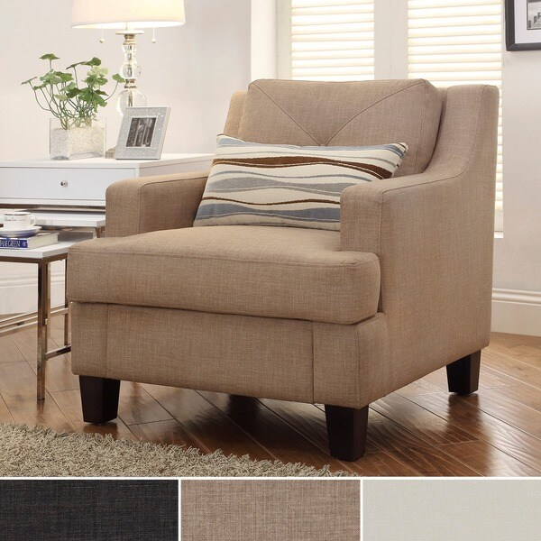 INSPIRE Q Elston Linen Sloped Track Arm Chair