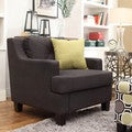 Inspire Q Cameron Dark Grey Fabric Tufted Sloped Armchair