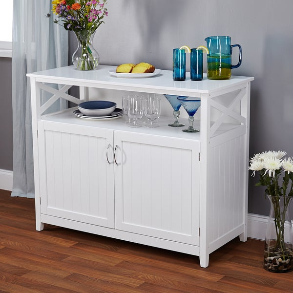 White Kitchen Buffet: Simple Living Southport White Beadboard Buffet
