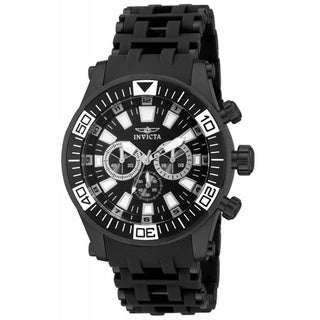Invicta Men's 'Sea Spider' Black Stainless Steel Quartz Chronograph Watch