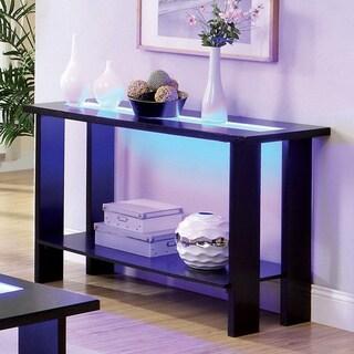 Furniture of America Lumi Contemporary LED Lights Espresso Sofa Table
