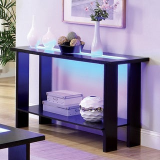 Furniture of America Lumi LED Lights Espresso Sofa Table