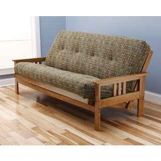 Christopher Knight Home Multi-flex Light Honey Oak Wood Futon Frame with Innerspring Mattress