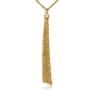 Gioelli 14k Yellow Gold Tassel Necklace