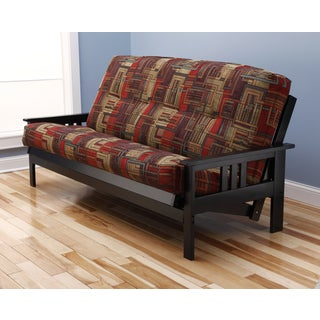 Christopher Knight Home Multi-flex Black Wood Futon Frame with Innerspring Mattress