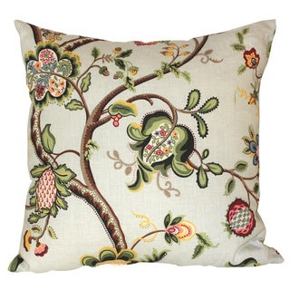 Fantasy Garden Seafoam Throw Pillow