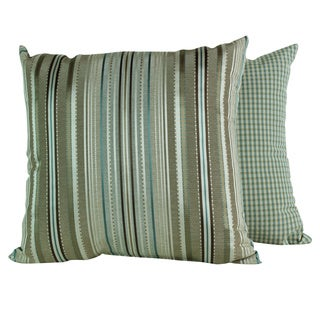 Clark Stripe Blue Stream Throw Pillows (Set of 2)